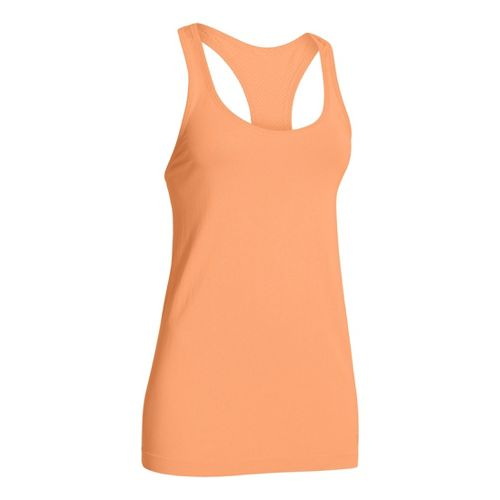 Womens Under Armour Seamless Tanks Technical Tops - After Glow S