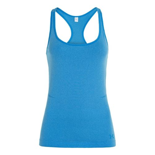 Womens Under Armour Seamless Tanks Technical Tops - Electric Blue XS