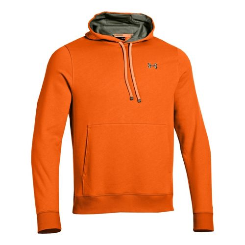 Mens Under Armour Storm Transit Hoody Running Jackets - Blaze Orange/Rough L