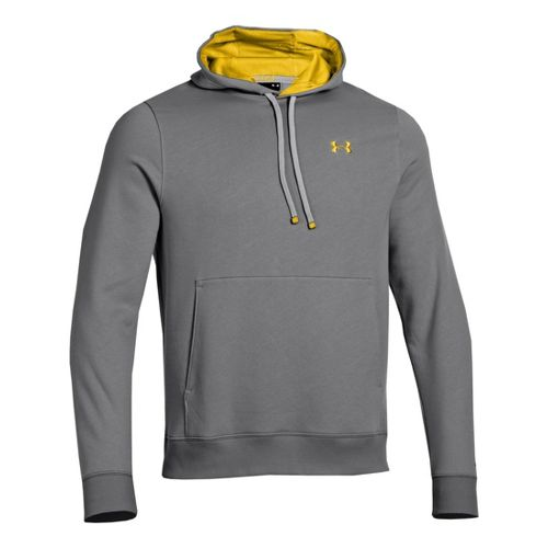 Mens Under Armour Storm Transit Hoody Running Jackets - Graphite/Taxi XL