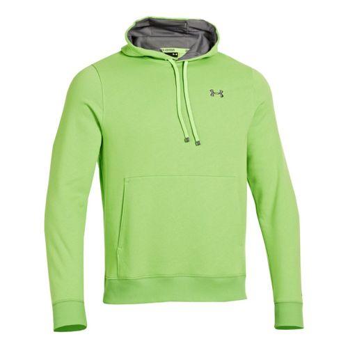Mens Under Armour Storm Transit Hoody Running Jackets - Hyper Green/Graphite S