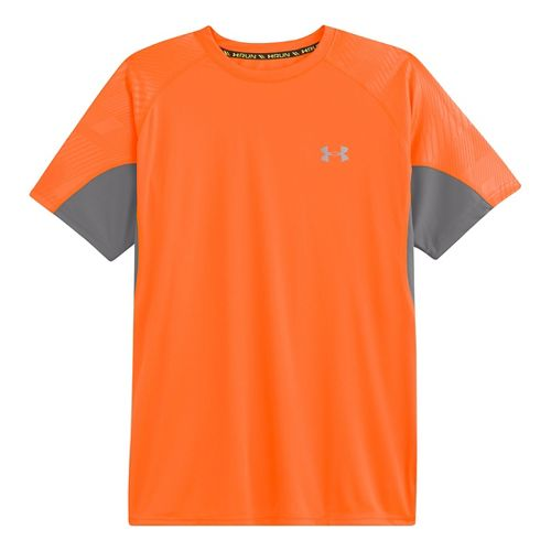 Mens Under Armour Coldblack Run Short Sleeve Technical Tops - Blaze Orange/Blaze Orange S