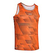 Mens Under Armour Heatgear Flyweight Run Singlets Technical Tops