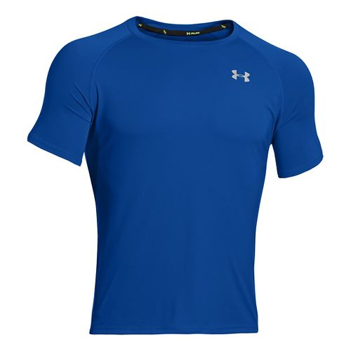 Mens Under Armour Run T Short Sleeve Technical Tops - Scatter/Reflective L