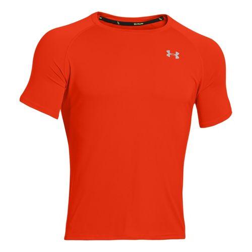 Mens Under Armour Run T Short Sleeve Technical Tops - Volcano/Reflective XL