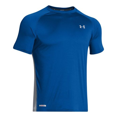 Mens Under Armour Flyweight Run T Short Sleeve Technical Tops - Scatter/Reflective L