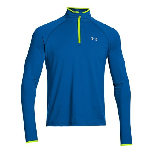 Mens Under Armour Heatgear Flyweight Run Long Sleeve 1/2 Zip Technical Tops - Superior ...