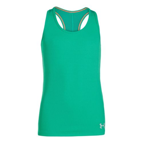Kids Under Armour Girls UA Victory Tanks Technical Tops - Emerald Lake XL