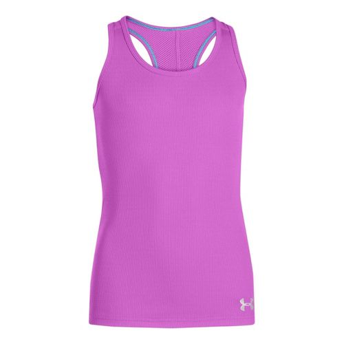Kids Under Armour Girls UA Victory Tanks Technical Tops - Exotic Bloom M