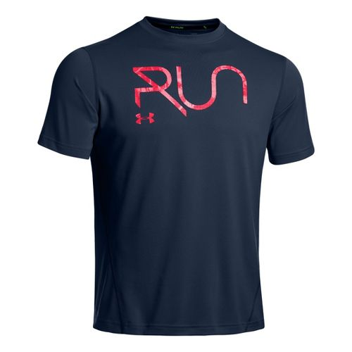 Mens Under Armour All Over Grid T Short Sleeve Technical Tops - Academy/Neo Pulse M ...
