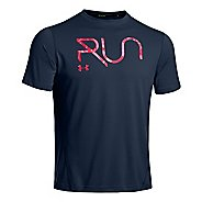 Mens Under Armour All Over Grid T Short Sleeve Technical Tops