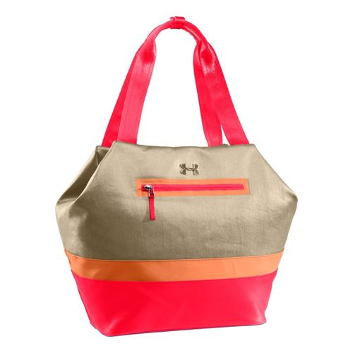 Womens Under Armour UA Perfect Flow Tote Bags - Light Khaki/After Glow