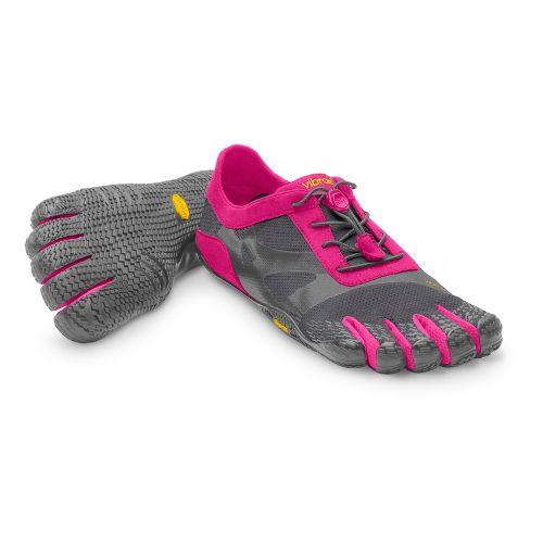 Womens Vibram FiveFingers KSO EVO Running Shoe - Grey/Pink 37