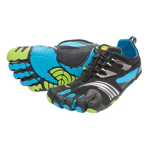 Mens Vibram FiveFingers KMD Sport LS Running Shoe - Black/Blue/Green 44