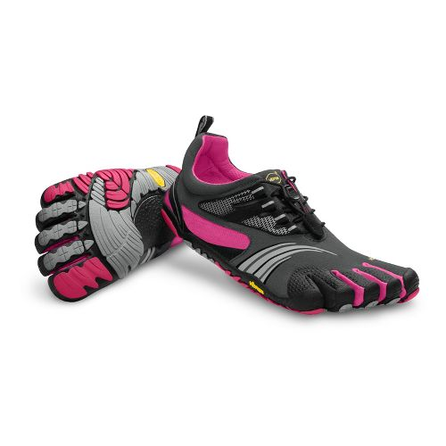 Womens Vibram FiveFingers KMD Sport LS Running Shoe - Grey/Pink 38