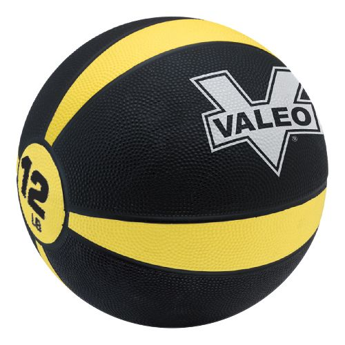 Valeo Medicine Ball Fitness Equipment - Yellow/Black