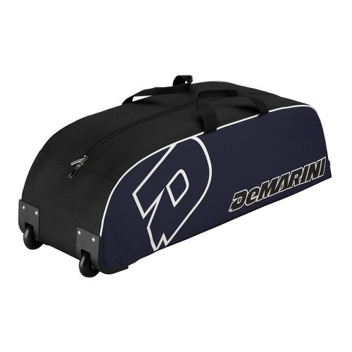 Wilson DeMarini Youth Wheel Baseball Bag - Navy