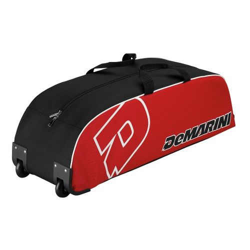 Wilson DeMarini Youth Wheel Baseball Bag - Scarlet