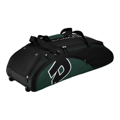 Wilson Demarini Vendetta Wheel Baseball Bag - Dark Green