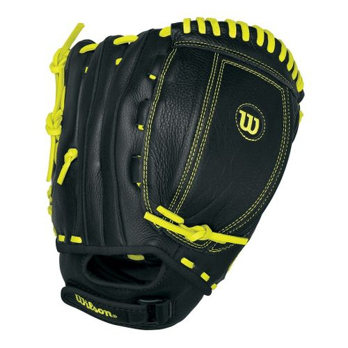 Wilson A500 All Positions Baseball Glove 11.5 Inches Fitness Equipment - Black/Yellow Right