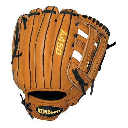 Wilson A450 All Positions Baseball Glove 11 Inches Fitness Equipment - Orange/Tan Left