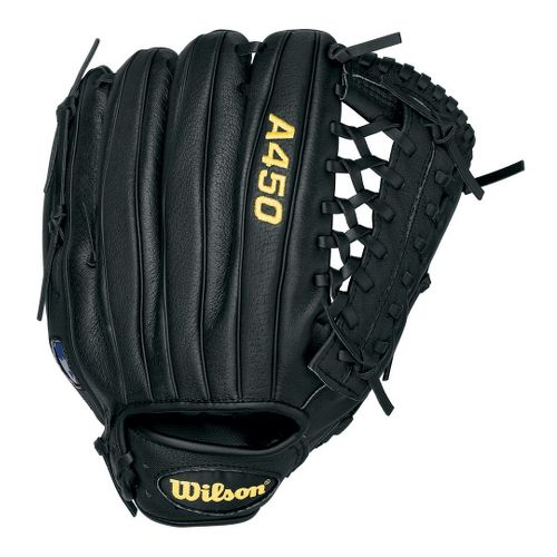 Wilson A450 All Positions Baseball Glove 12 Inches Fitness Equipment - Black Left