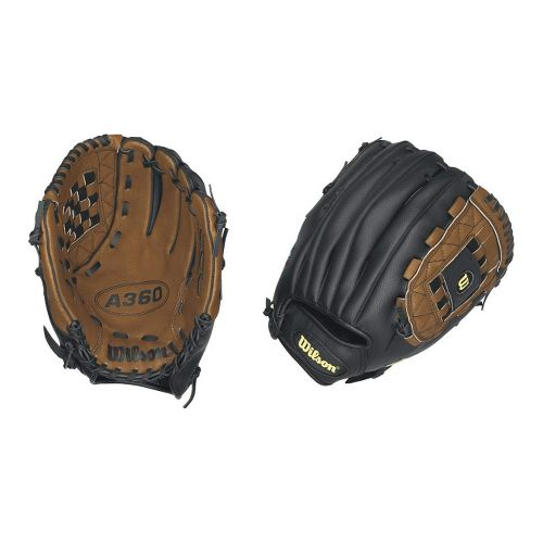 Wilson A360 All Positions Baseball Glove 12 Inches Fitness Equipment - Black/Brown Left
