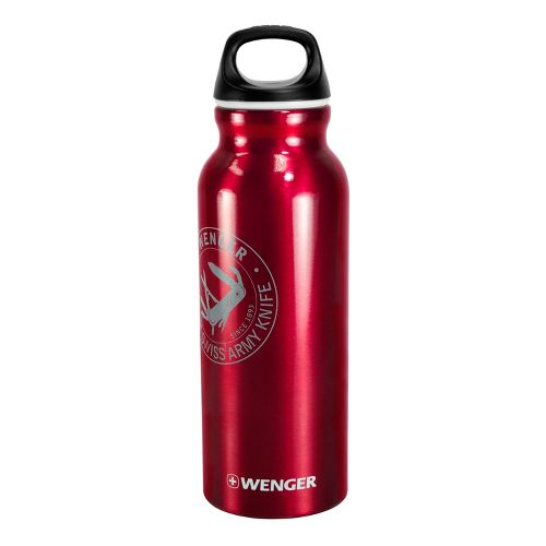 Wenger 650ml Aluminum Bottle Hydration - Red