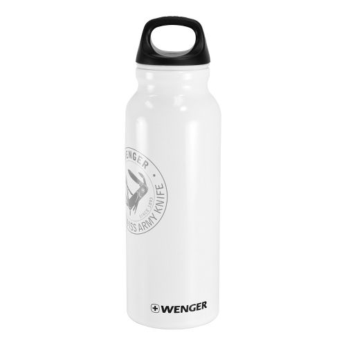 Wenger 650ml Aluminum Bottle Hydration - White