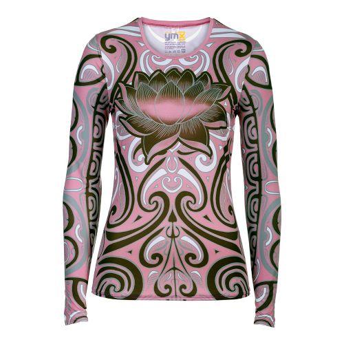 Womens YMX Core Long Sleeve No Zip Technical Tops - Infinite Tribal Pink S