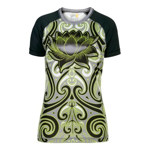 Womens YMX Raglan Short Sleeve Technical Tops - Infinite Tribal Green M