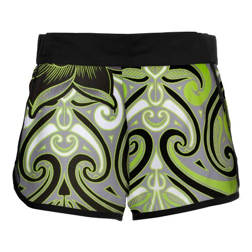 Womens YMX Racing Lined Shorts - Infinite Tribal Green L
