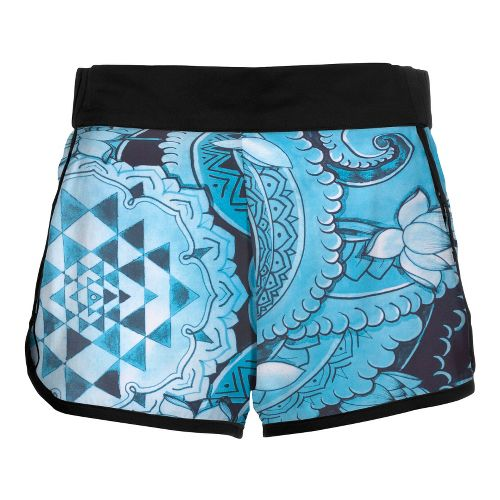 Womens YMX Racing Lined Shorts - Infinite Geometry Blue L