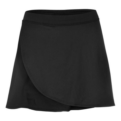 Womens YMX Wrap Skort Fitness Skirts - Black XXL