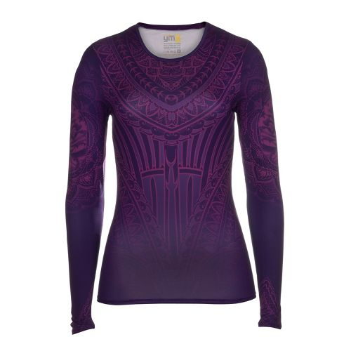 Womens YMX Core Long Sleeve No Zip Technical Tops - Essential Henna Amethyst XS