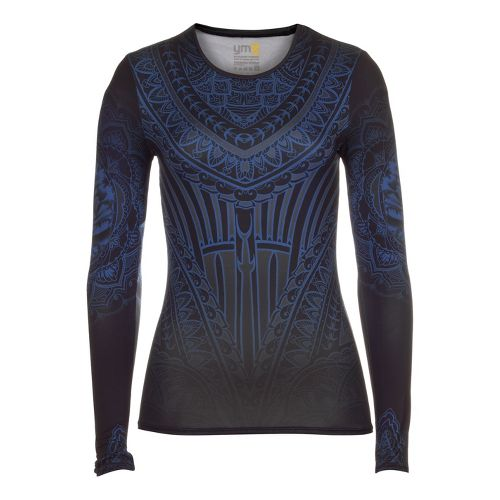 Womens YMX Core Long Sleeve No Zip Technical Tops - Essential Henna Midnight S