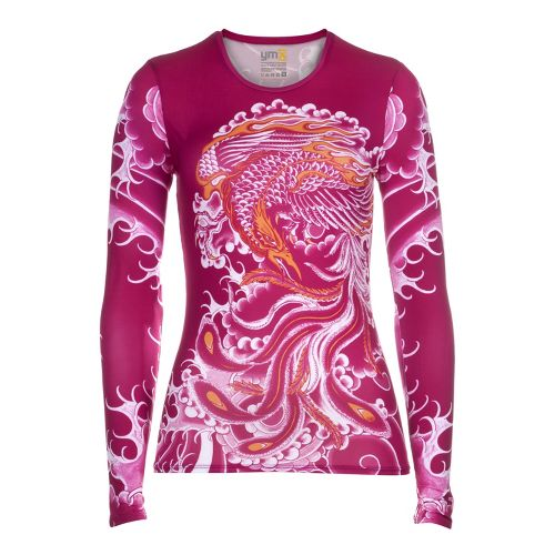 Womens YMX Core Long Sleeve No Zip Technical Tops - Essential Phoenix Cerise M
