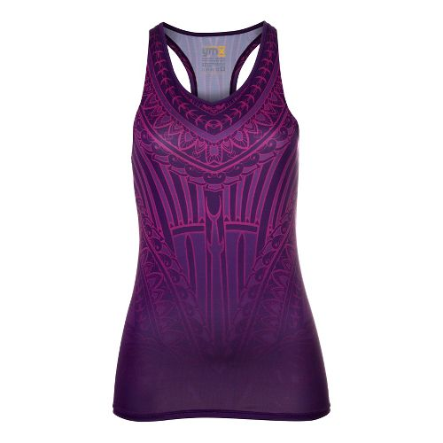 Womens YMX Racerback w/Pocket Tanks Technical Tops - Essential Henna Amethyst L