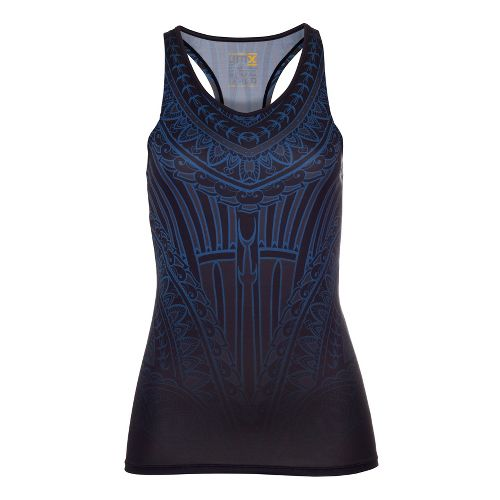 Womens YMX Racerback w/Pocket Tanks Technical Tops - Essential Henna Midnight XS