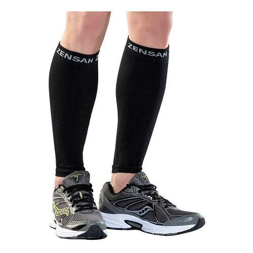 Zensah Compression Leg Sleeves Injury Recovery - Black L/XL