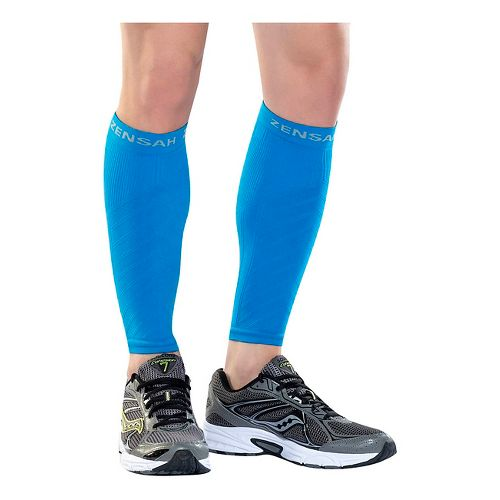 Zensah Compression Leg Sleeves Injury Recovery - Blue L/XL