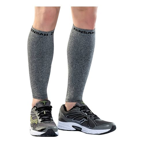 Zensah Compression Leg Sleeves Injury Recovery - Heather Grey S/M