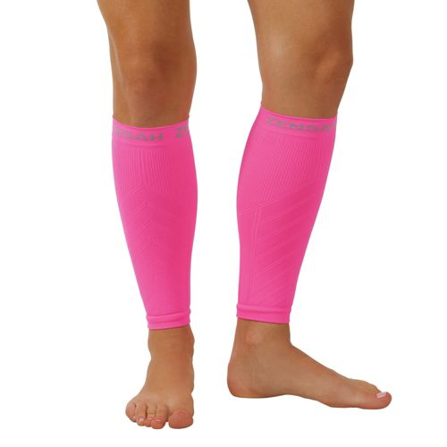 Zensah Compression Leg Sleeves Injury Recovery - Neon Pink S/M