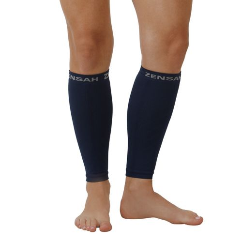 Zensah Compression Leg Sleeves Injury Recovery - Navy S/M