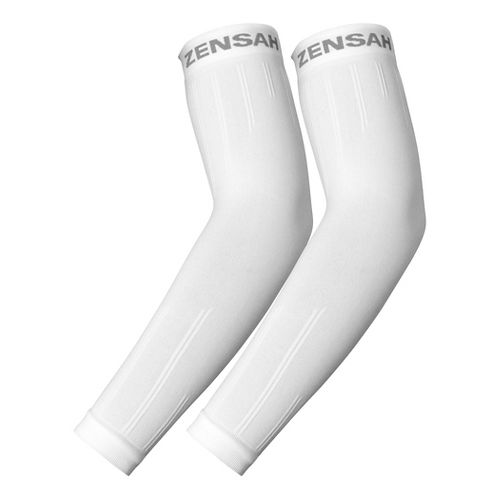 Zensah Compression Arm Sleeves Injury Recovery - White S/M
