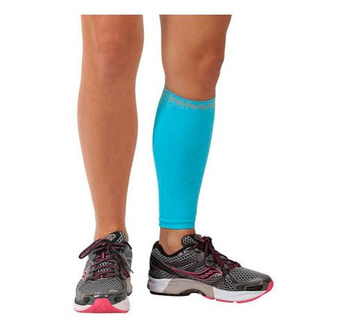 Zensah Shin/Calf Support Compression Sleeve Injury Recovery - Aqua S/M
