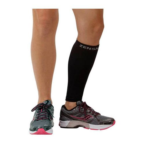 Zensah Shin/Calf Support Compression Sleeve Injury Recovery - Black L/XL