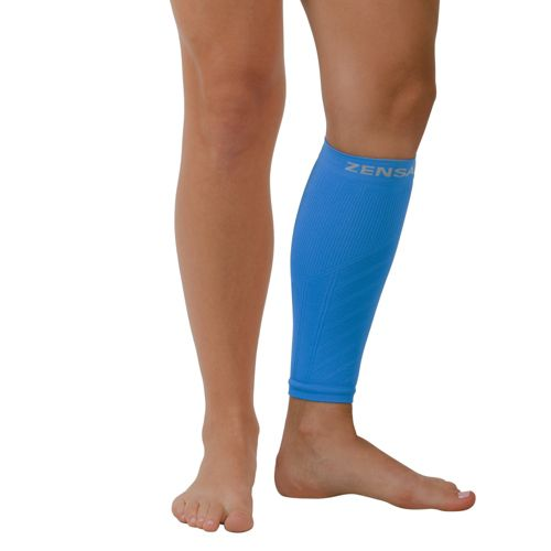 Zensah Shin/Calf Support Compression Sleeve Injury Recovery - Blue L/XL