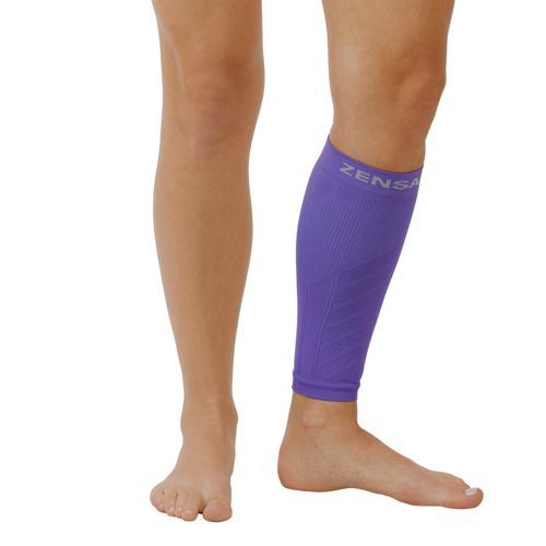 Zensah Shin/Calf Support Compression Sleeve Injury Recovery - Purple XS/S