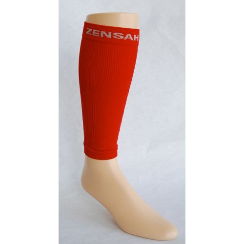 Zensah Shin/Calf Support Compression Sleeve Injury Recovery - Red S/M